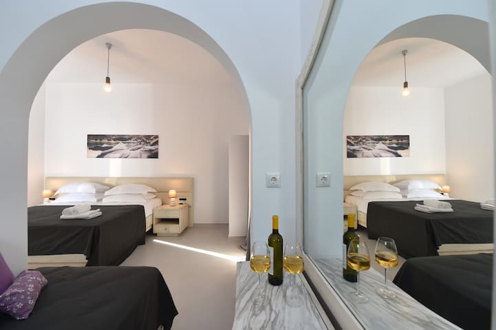 Two Bedroom Apartment with two double beds and one single