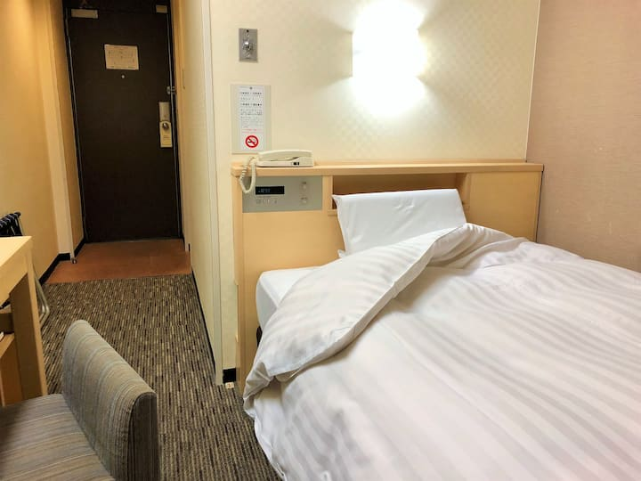 3min walk Hanshin Amagasaki/Single Room/No Smoking