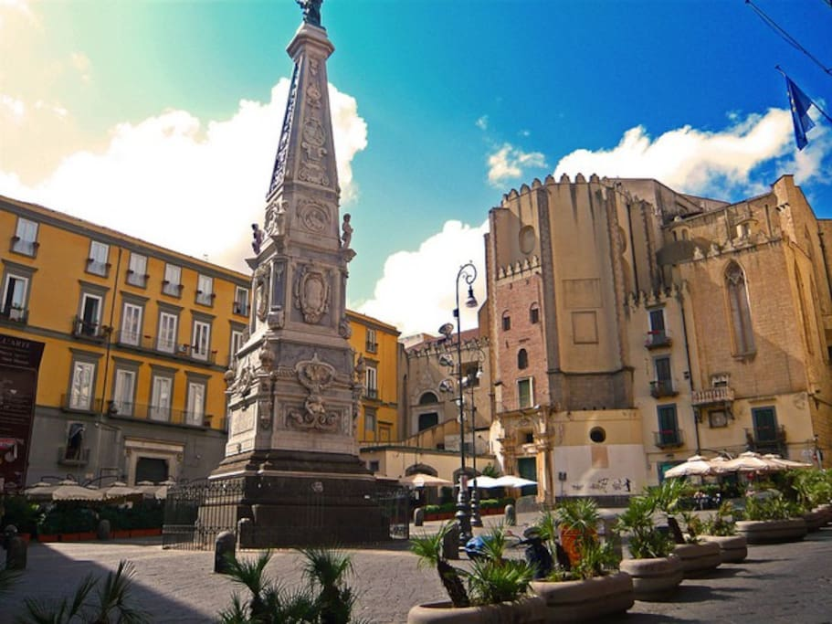 Just around the corner lies another historic monument. The piazza is perfect for evening aperitivos after a long day.