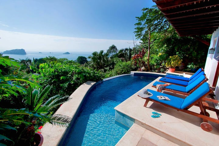 Balinese Style Villa w/Panoramic Views & Pool