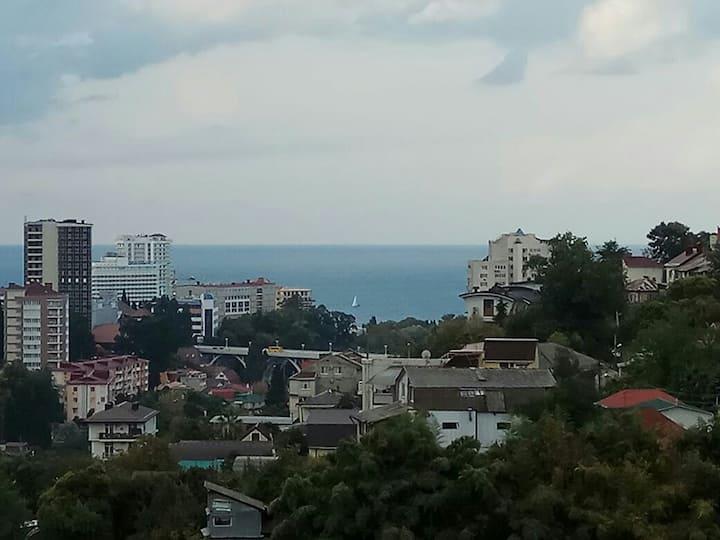 Квартира-студия в Сочи с видом на море