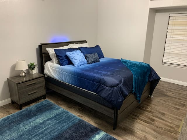 Luxury master bedroom with complimentary coffee