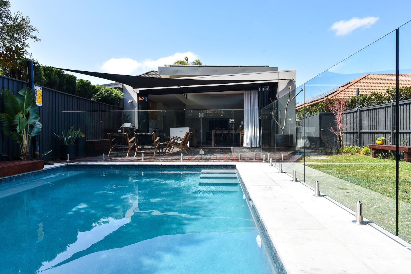 Family home with generous level yard and pool