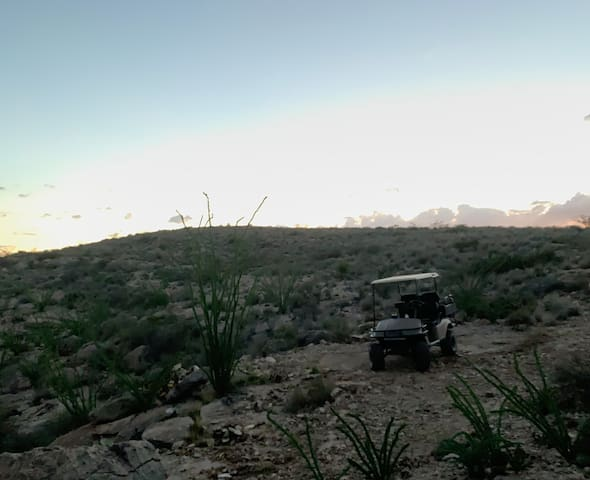 High View campsite @ Tres Arroyos -Terlingua