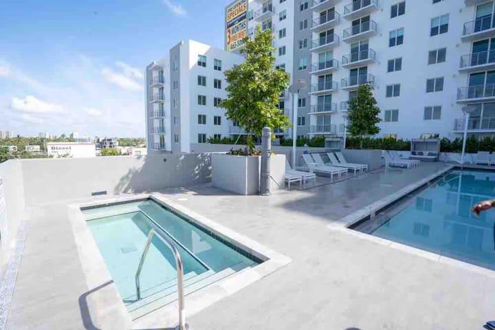 # 1119 2/2 lower penthouse Huge heated Pool