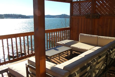 Lakefront Home w/ Best Dam View - Lake Ozark - Dom