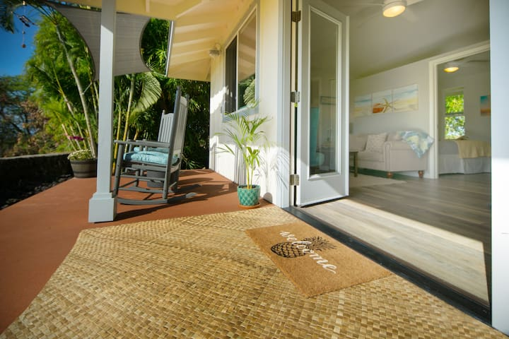 Front Lanai and entrance to the cottage.