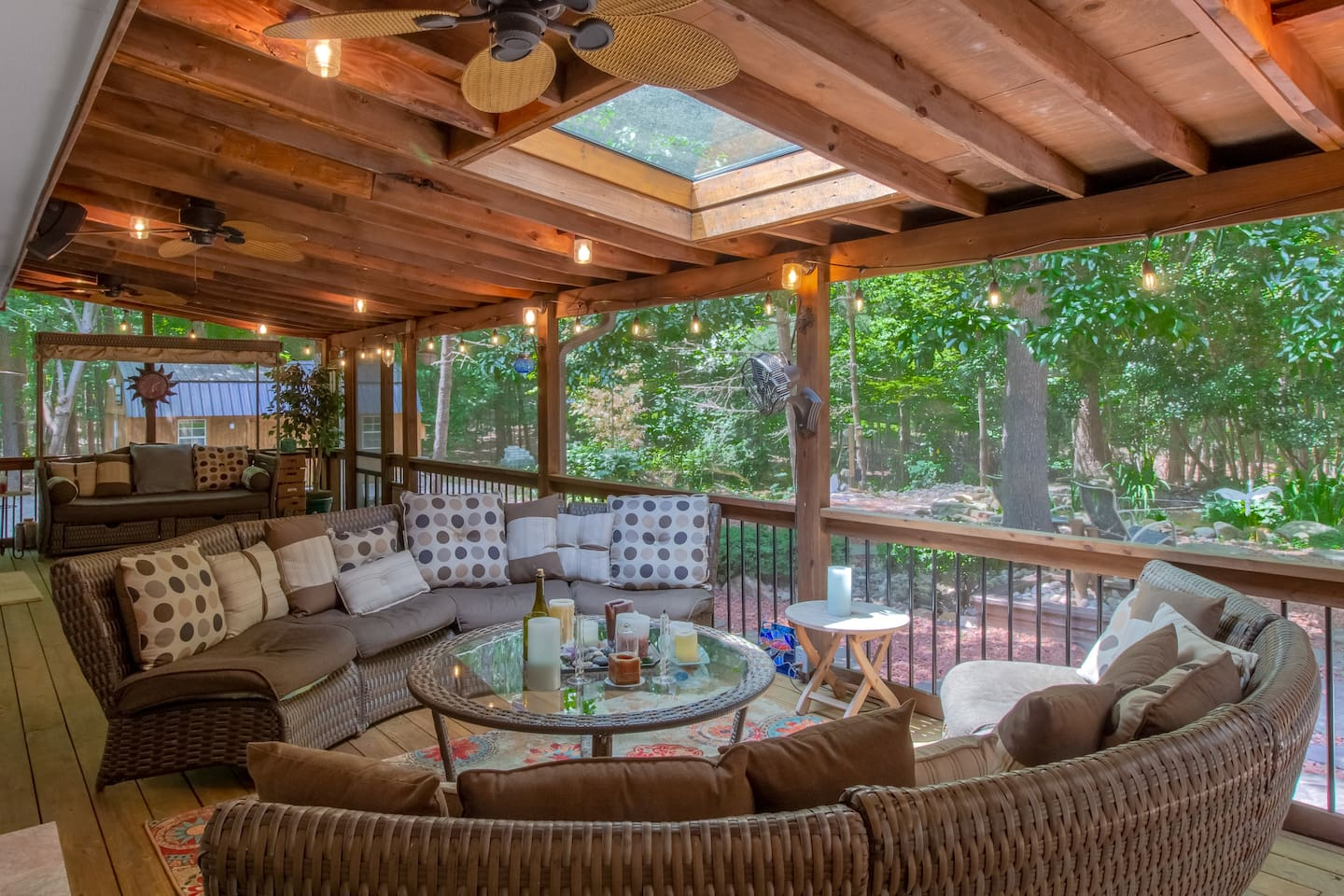 Relax on the 46'x12' Screened-In Porch