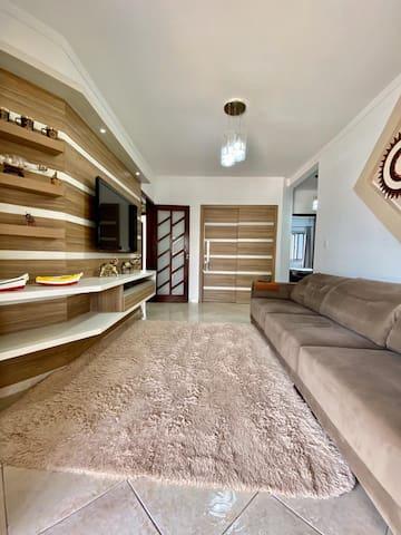 Sala com sofá-cama