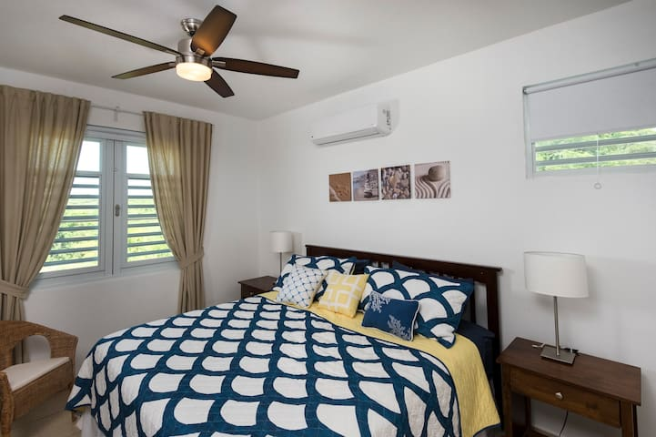 Master bedroom with king bed & A/C