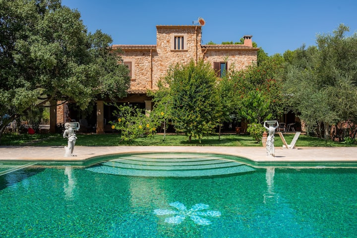 """Stunning Holiday Home """"Finca Sespiga"""" with Wi-Fi, Garden, Balcony, Terraces & Pool; Parking Available"""