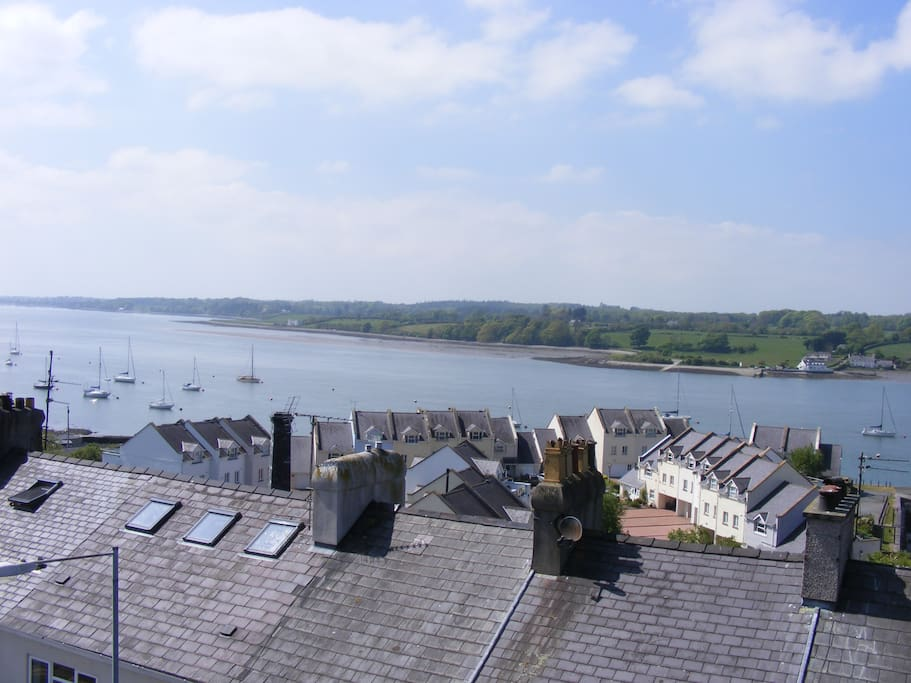 The Menai Straits over looking Portdinorwic across to Anglesey,