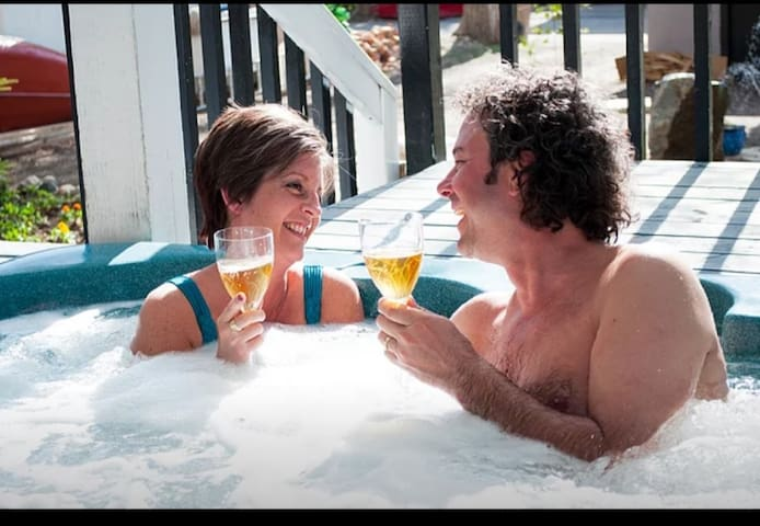 Take a dip in our fabulous hot tub!