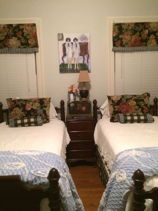 Two standard twin beds