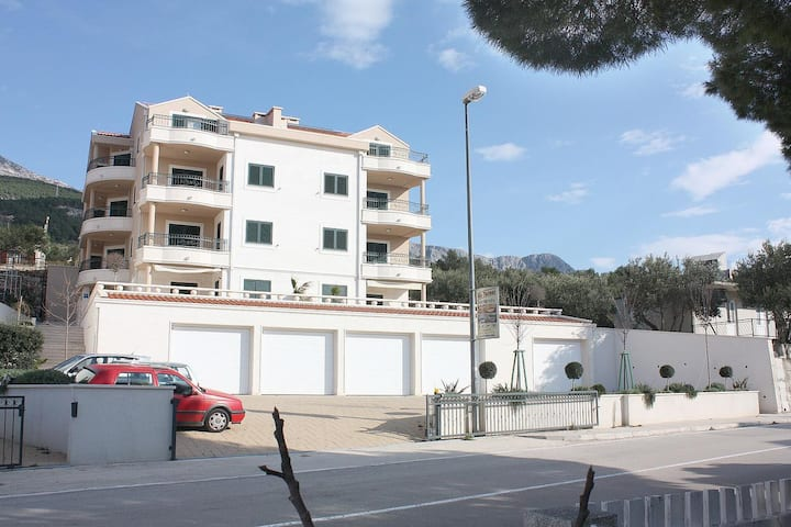 Two bedroom apartment with balcony and sea view Tučepi, Makarska (A-3193-a)