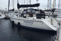 Namaste at her One Tree Island Moorings