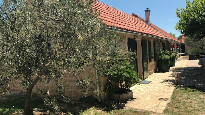 Double bed room in rural house inside NP Krka (R)