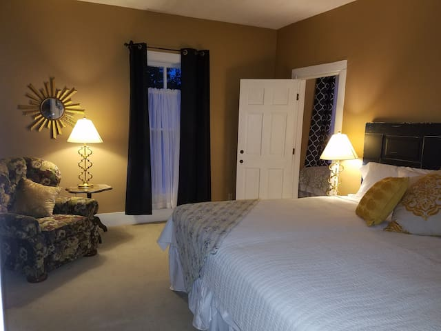 Spacious, private bedroom with king bed
