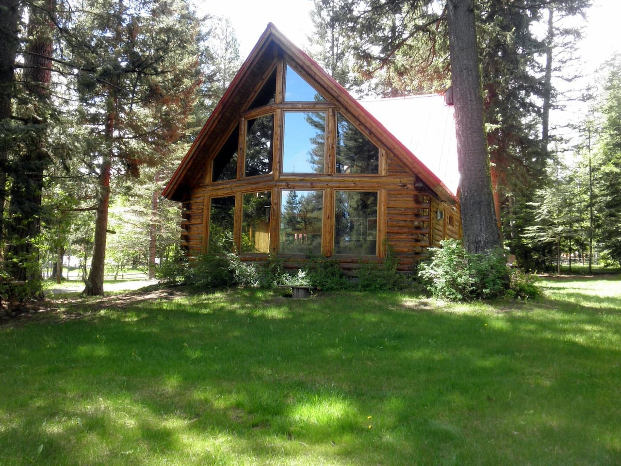 Bear Lodge, tucked into the woods