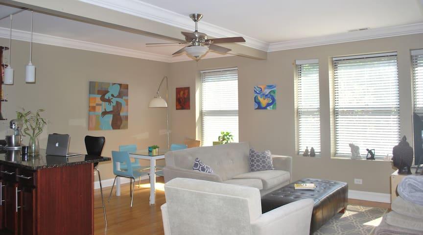 An Artsy Comfy, Cozy & Convenient Condo