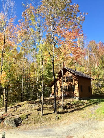 A true Vermont get-away cabin in the woods