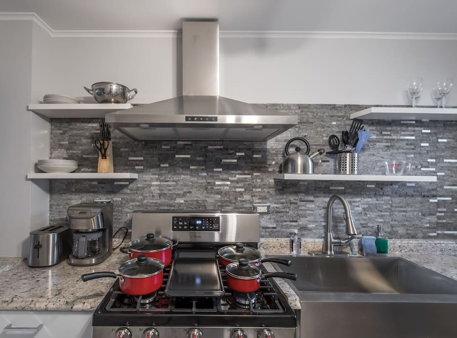 The renovated kitchen makes cooking a joy for everyone