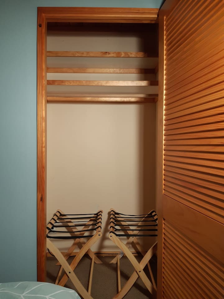 Wardrobes with luggage racks for suitcases and extra storage space