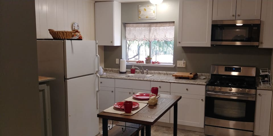 A full size fully functional kitchen.