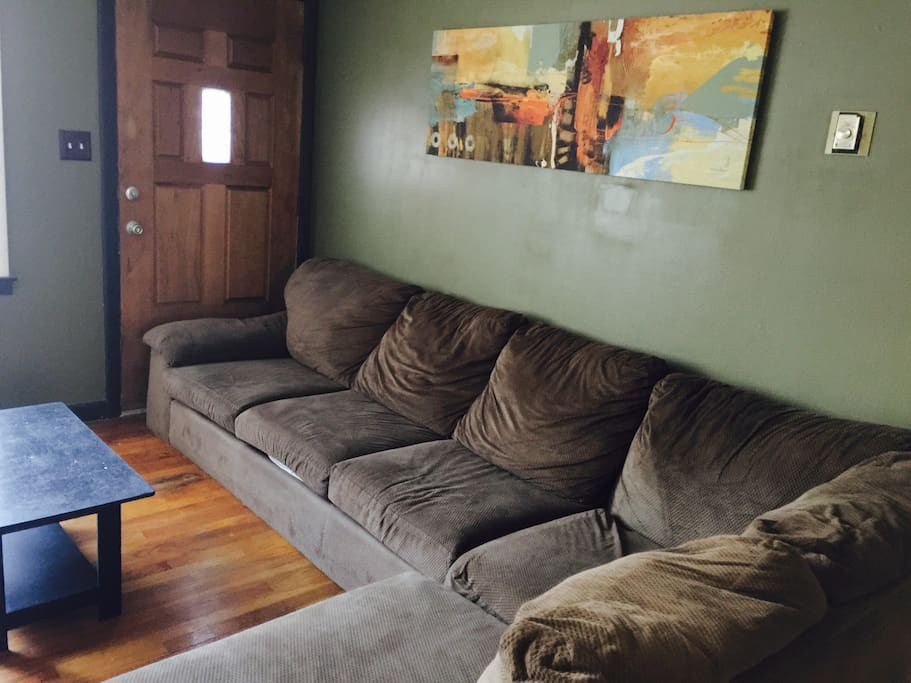 Semi-furnished living room