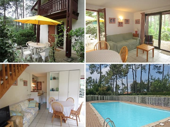 Semi detached house for 6, residence with pool