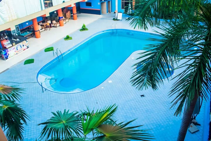 Studio Apartment with Pool View in East Legon