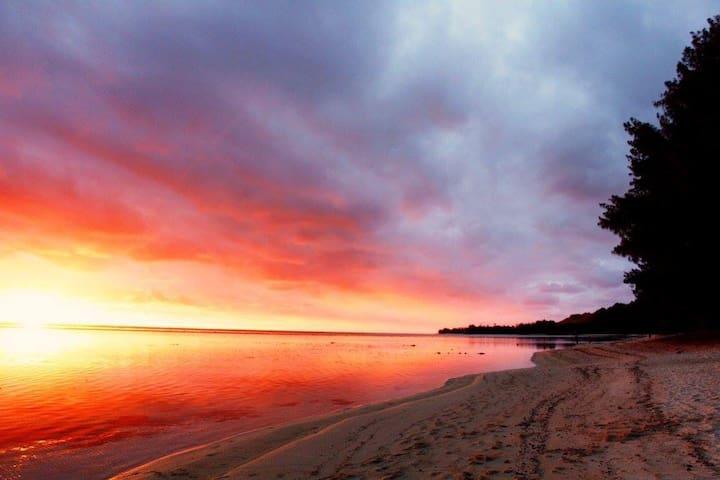 The beach at sunset - just a short walk away!