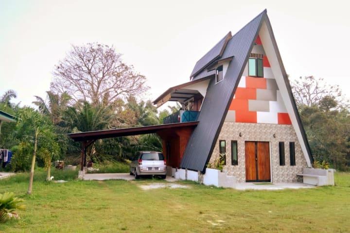 Unique A-Shape guest house @ cottagge