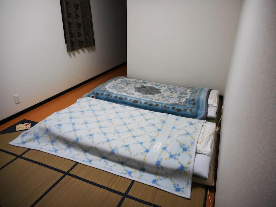 modern comfortable room with Japanese style Futon(bedding)