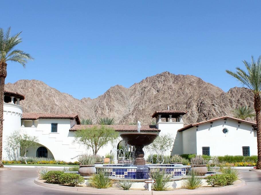 Charming Old World Main Resort Entrance