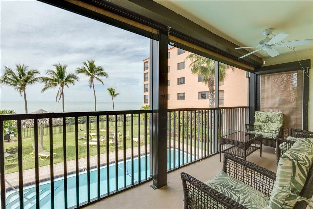 The balcony overlooks the pool - Enjoy spectacular views from your balcony!