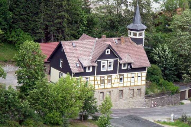 haus mit turm ferienunterk nfte zur miete in elbingerode harz sachsen anhalt deutschland. Black Bedroom Furniture Sets. Home Design Ideas