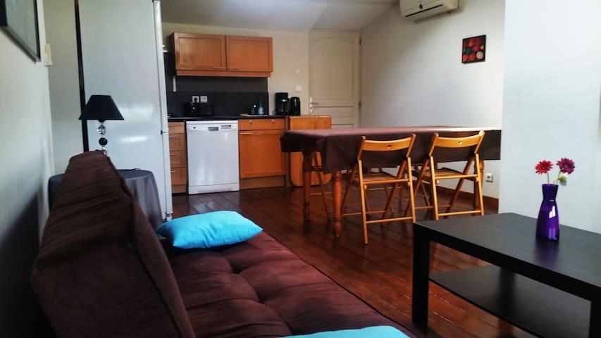 Appartement T4 à Eaunes avec jardin (7 couchages)