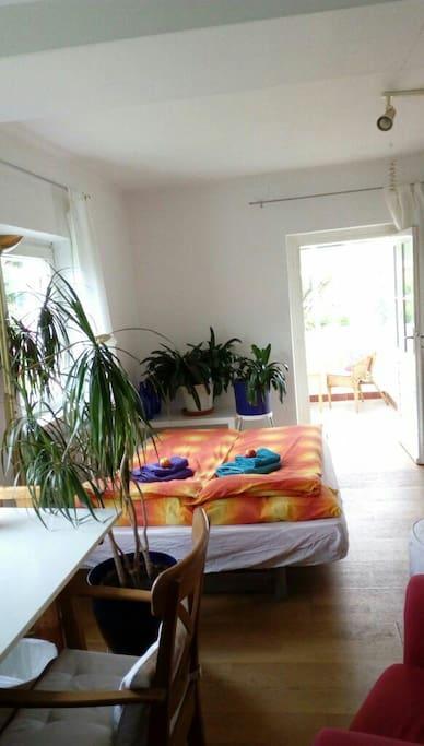 Schlafzimmer auf Gartenebene