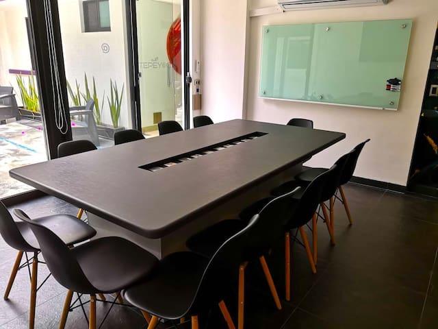 Smart Meeting Room: (Virtuales + Presenciales).