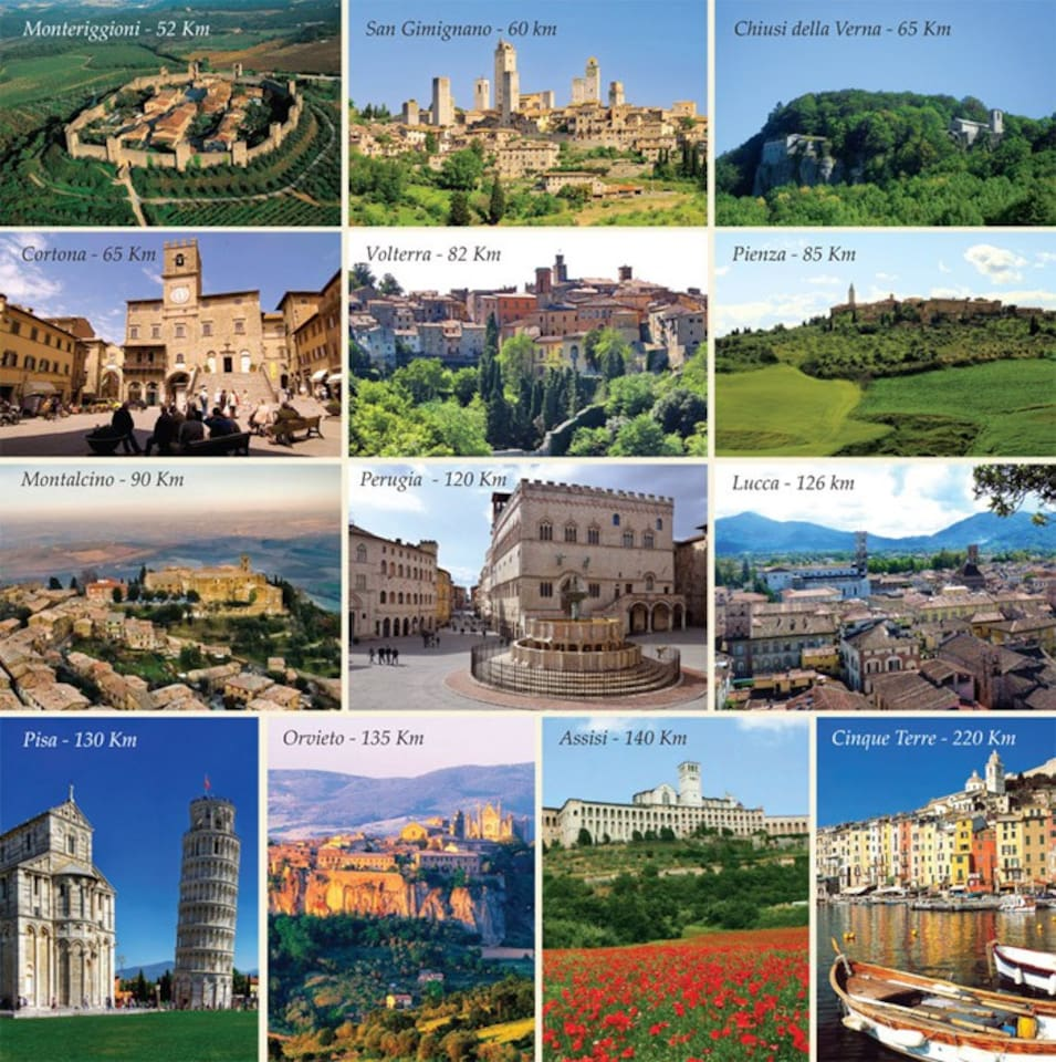 There are many activities to do in the area; including 7 UNESCO World Heritage Sites