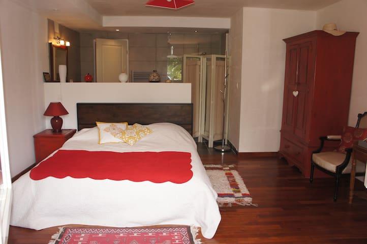LA VERNIERE- Chambre 1 - Saint-Jean-du-Falga - Bed & Breakfast