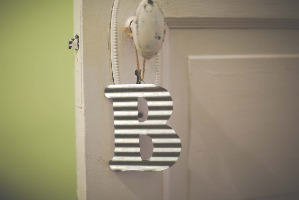 To Help You Find Which Private Room Is Yours During Your Stay - Each Room Is Marked With A Door Tag.