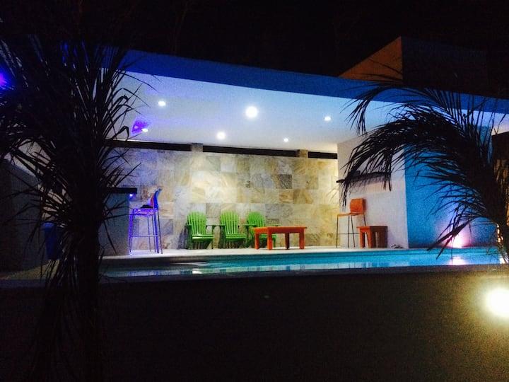 Casa de Playa en Mar azul Alberca y Playa privada,