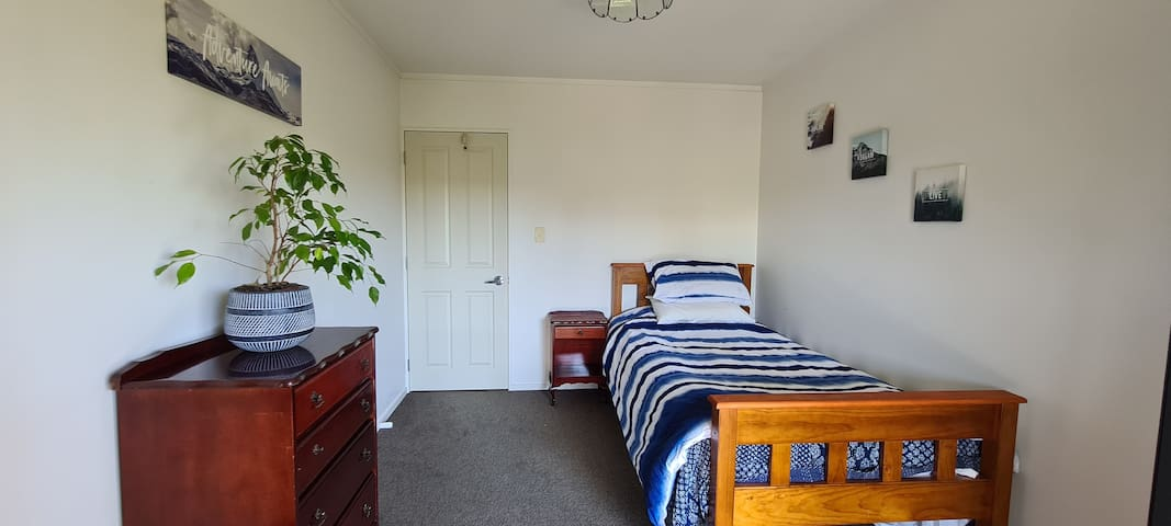 The bedroom with a new King Single (Dec 2020) mattress