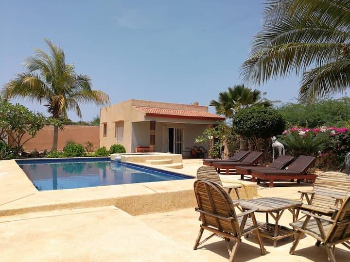 Studio équipé de 50 m2, piscine et poolbar