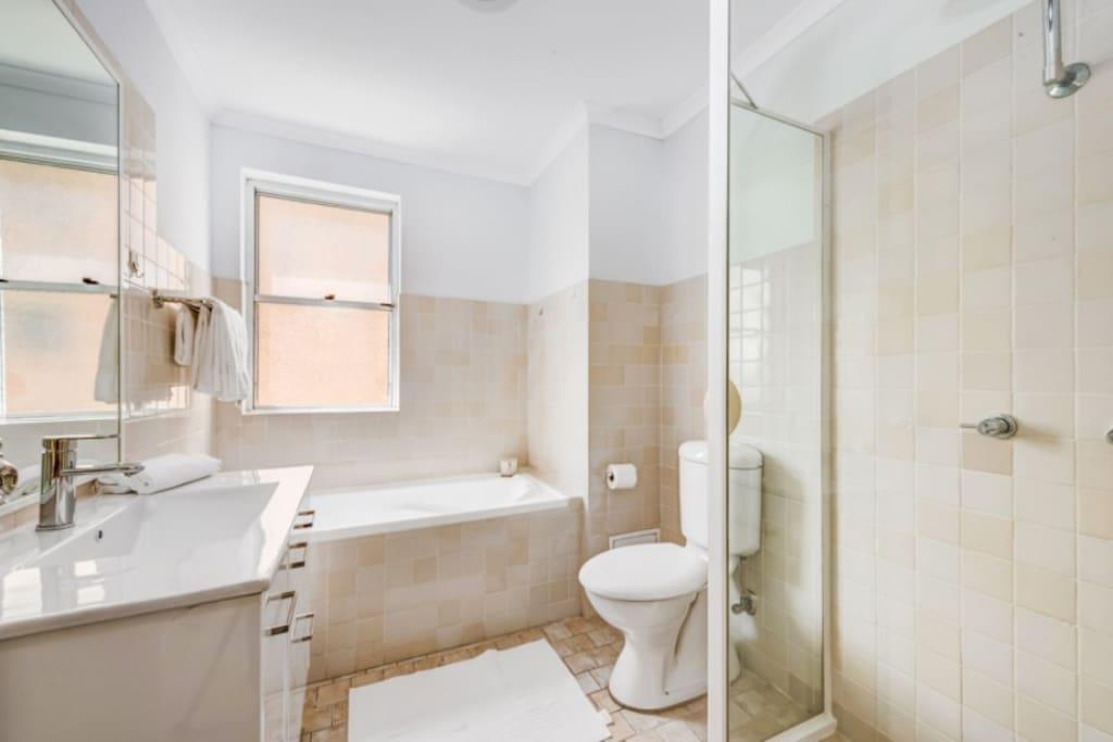 Master Bedroom with bathtub