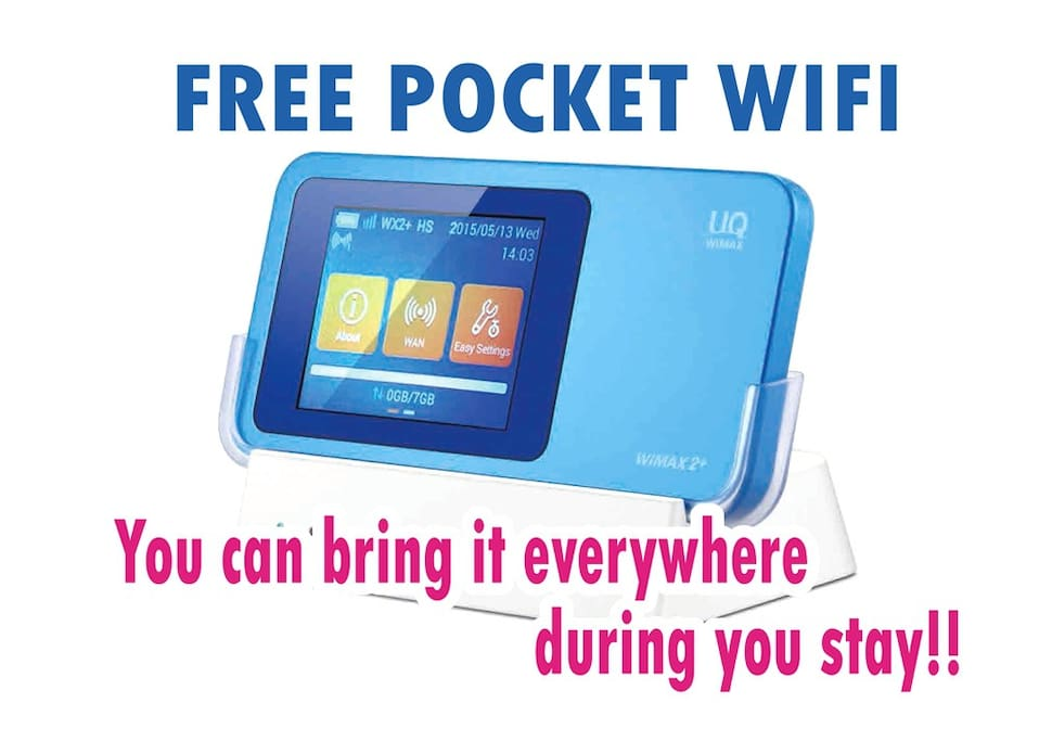 Mobile Wifi  You can bring,dring you stay.
