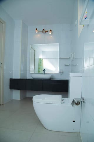 Nice and clean bathroom attached to the master bedroom