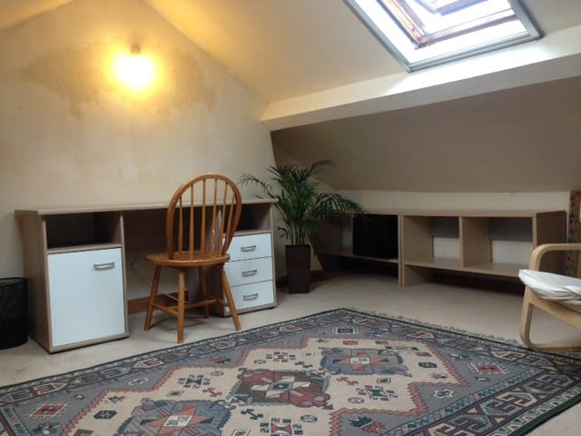 Large attic space, hill view, Macc town centre - Macclesfield